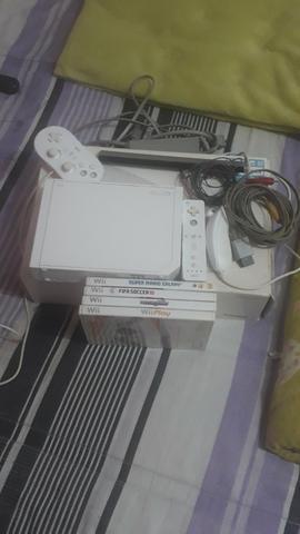 Nintendo Wii usado e bloqueado