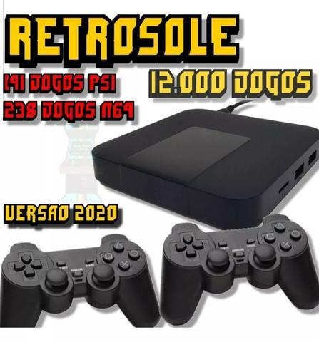 Vídeo Game Retrô 12.000 jogos + 2 controles 32GB