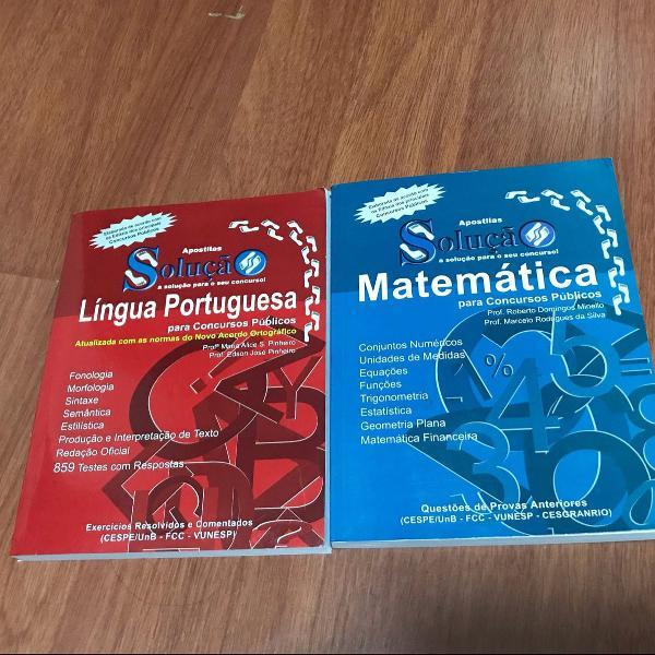 apostila para concursos português e matemática