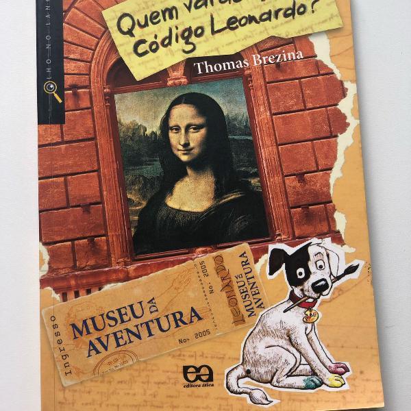 livro - quem vai decifrar o código de leonardo? - museu da