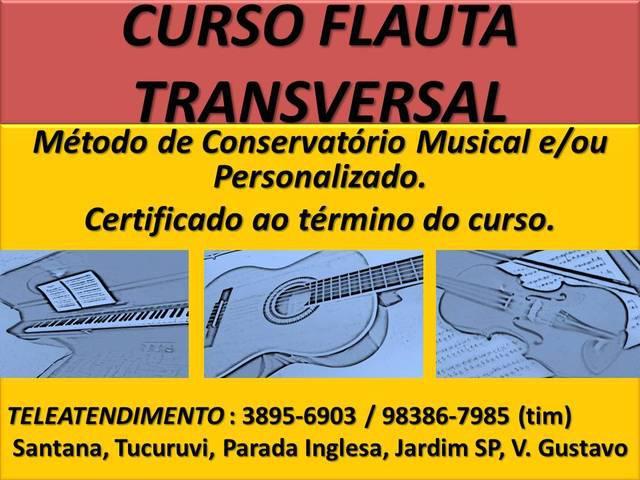 AULA CURSO DE FLAUTA TRANSVERSAL ZONA NORTE SP SANTANA