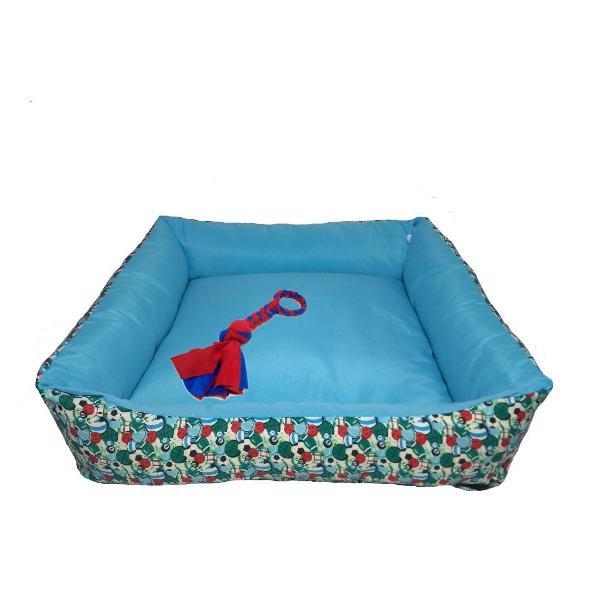 cama para cachorro e gato com zíper g vem com brinquedo