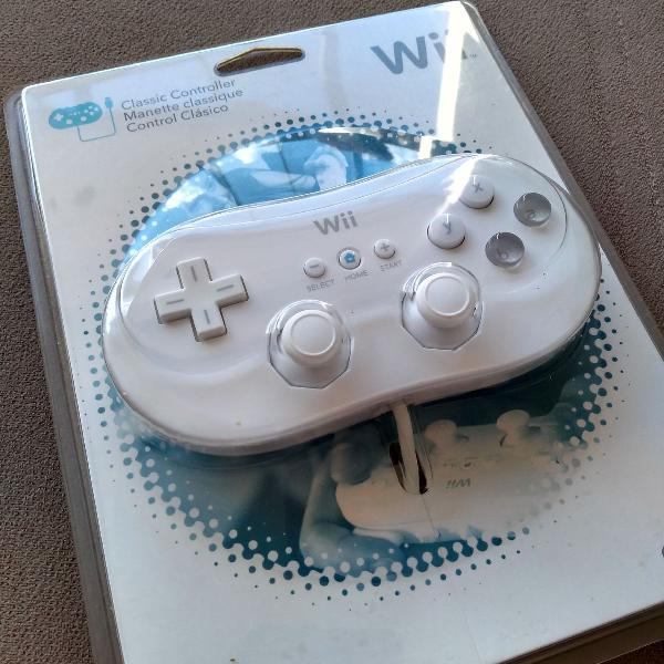 controle clássico Nintendo Wii