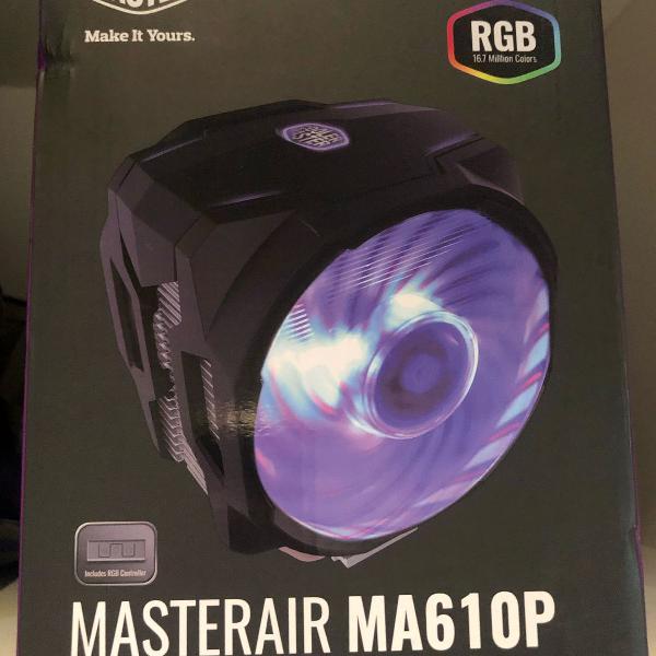 cooler de processador - coolermaster masterair rgb ma6106
