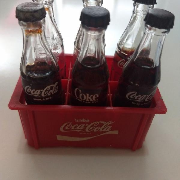 miniatura Garrafinhas Coca Cola dos anos 80