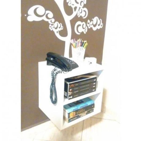nicho criado mudo para decoração com kit de instalação