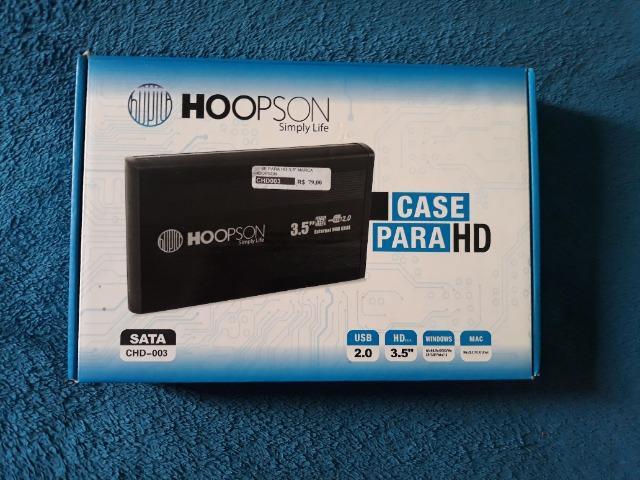 Case Hd 3.5 polegadas, Sata Usb 2.0 Preto Hoopson