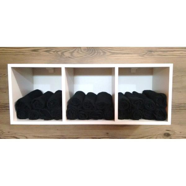 nicho porta toalhas para decoração com kit de instalação