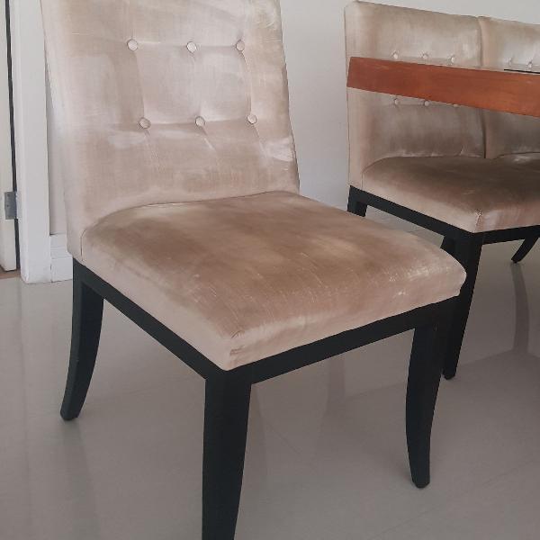 8 cadeiras de jantar