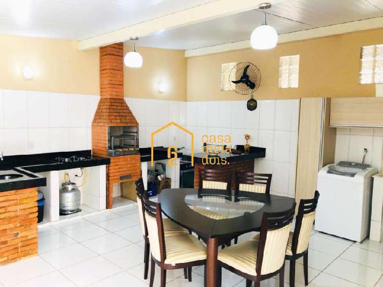 Casa 3 quartos - 1 suíte com churrasqueira / Santa Luzia