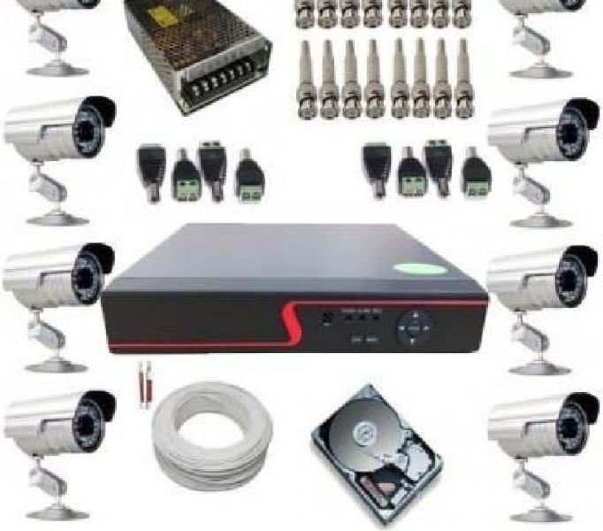 Kit Completo 8 Câmeras de Monitoramento 899,00