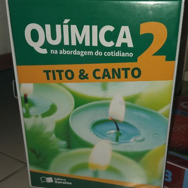 Química: box de livros volumes 2 e 3. Tito e Canto