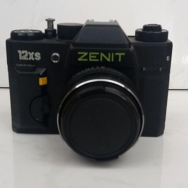 câmera fotográfica zenit 12xs com capa de couro original