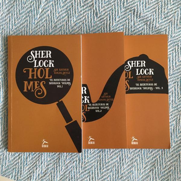 coleção de livros do sherlock holmes