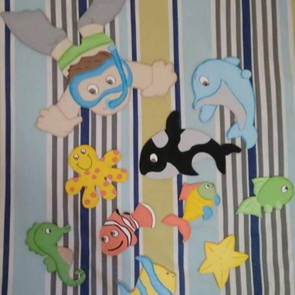 decoração infantil mergulhador