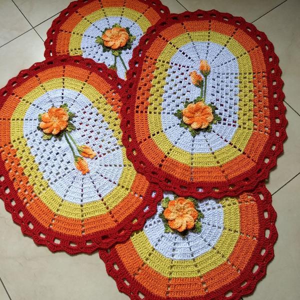 jogo de tapetes cozinha 3 peças