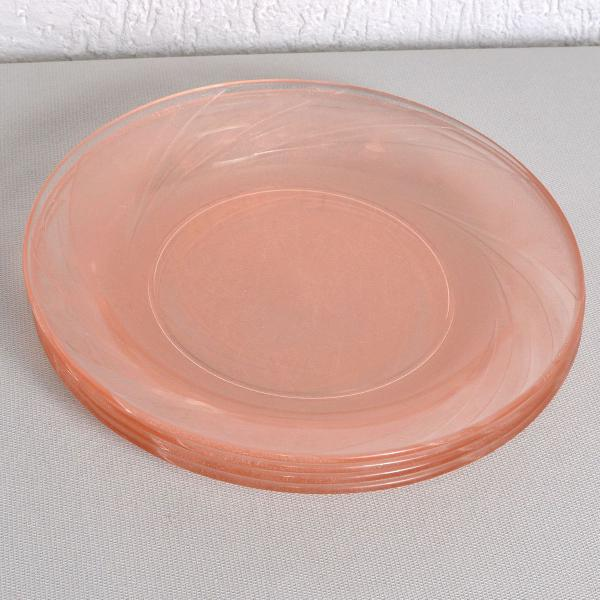 jogo pratos rasos nadir rosa 4 peças