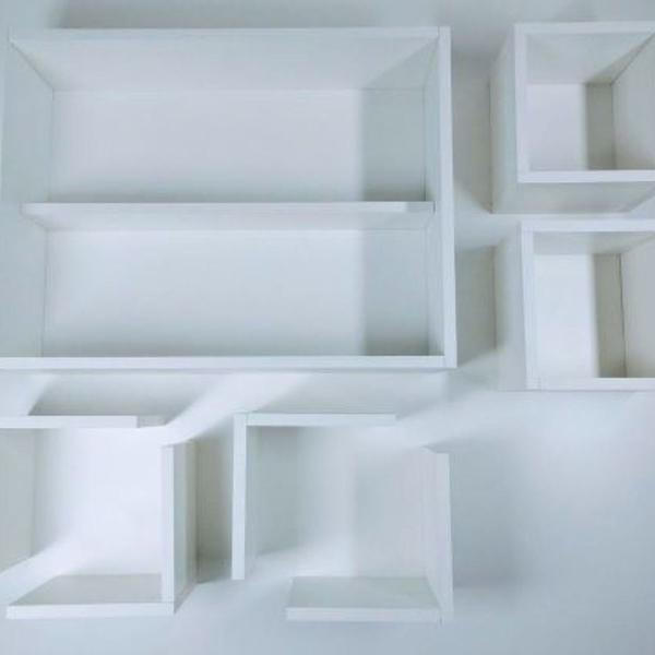 kit de nichos com 7 peças para decoração com kit de