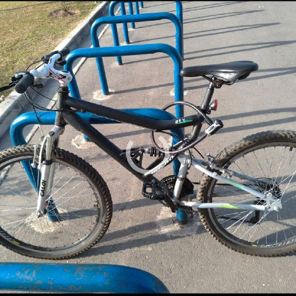 BICICLETA CALOI FULL SUSPENSION ARO 21