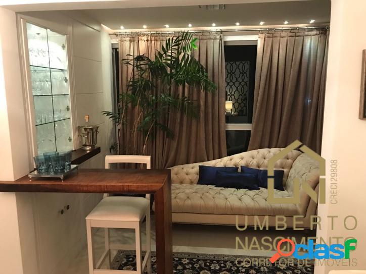 Lindo apartamento semi mobiliado com 3 quartos no bairro
