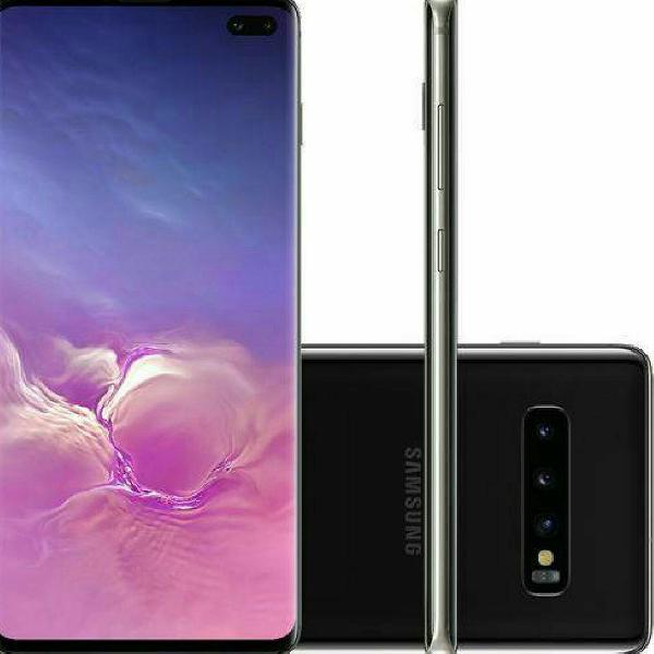 smartphone Samsung Galaxy S10 Preto 128 GB de memória 8 GB