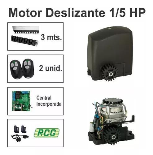 Motor Para Portão Eletrônico Deslizante 1/5 Hp Rcg