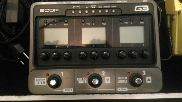 Pedaleira ZOOM G3 + Fonte Original