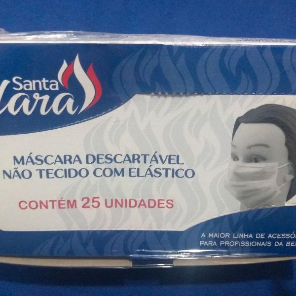 máscara descartável com elástico 25 unidades