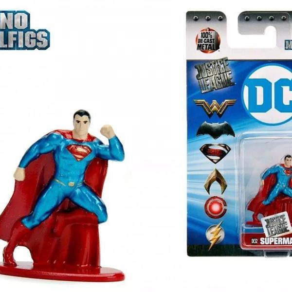 superman nano metalfigs justice league dc miniatura de metal