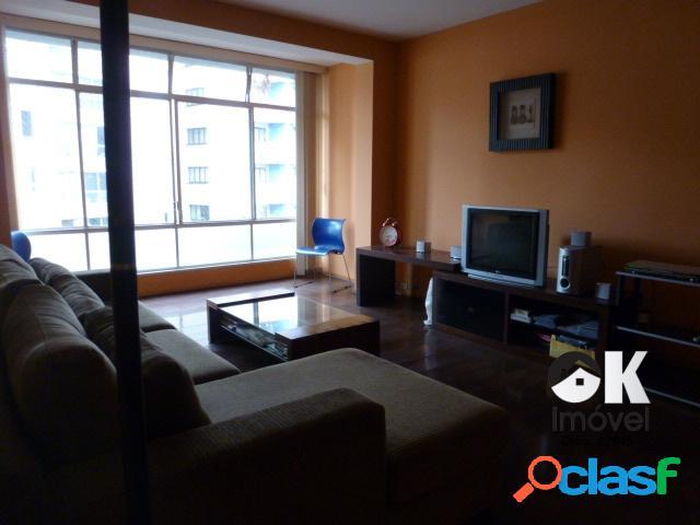 Apartamento: 174m², 4 dormitórios e 1 vaga –