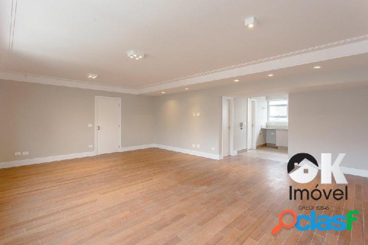 Apartamento reformado: 135m², 3 quartos e 1 vaga – Com
