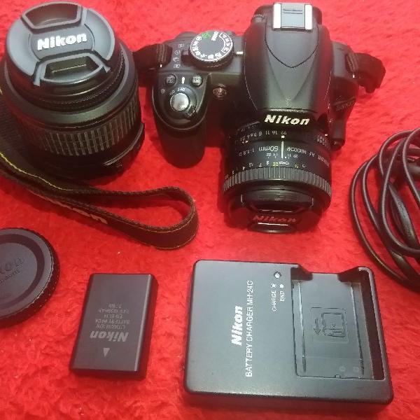 Câmera Nikon D3100 + Lente 50mm