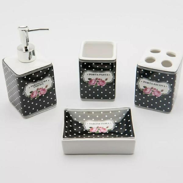 Conjunto kit de banheiro cerâmica 4 peças Susan