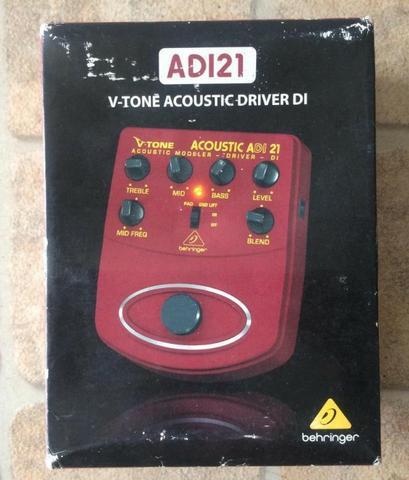 Pedal Behringer ADI21 (preamp/D.I. de violão)