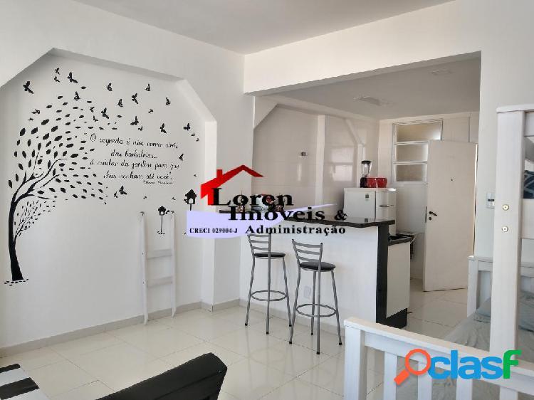 Sala Living Mobiliada Gonzaguinha Vista Total para o Mar!