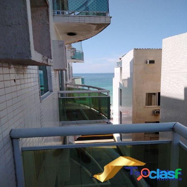 Temporada!Apartamento de frente para Praia do Forte Cabo