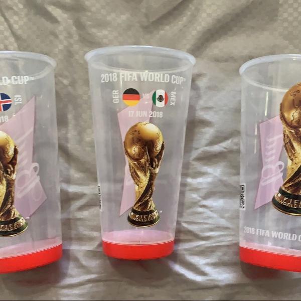 kit 3 copos copa do mundo rússia fifa 2018