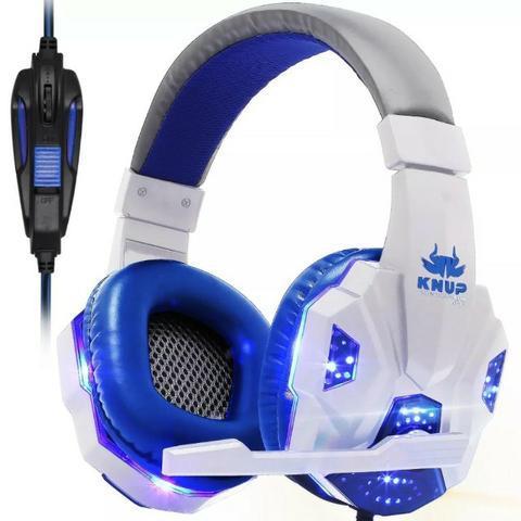 Headphone Gamer Fone De Ouvido Headset Branco Kp-397 Knup