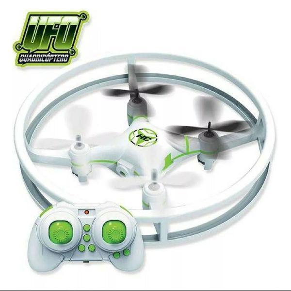 Mini drone quadricóptero com controle remoto e luzes