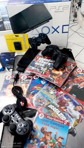 Playstation 2 Slim Desbloqueado - Completo