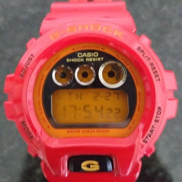 Relógio Casio g shock dw 6900 CB vermelho