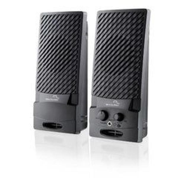 caixa de som multimídia 2.0 canais 1w usb preto multilaser