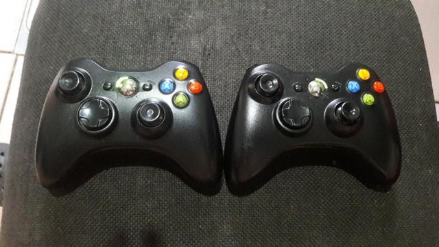 Dois Controles Sem Fio Originais Wireless Para Xbox 360