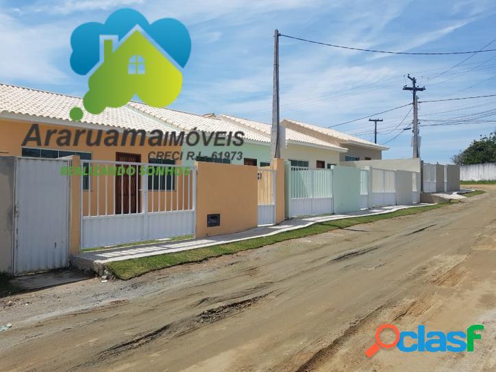 Excelente casa nova em araruama localizada no bairro
