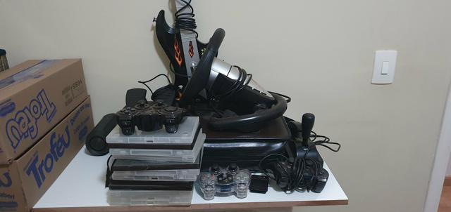 PS2 slim + itens
