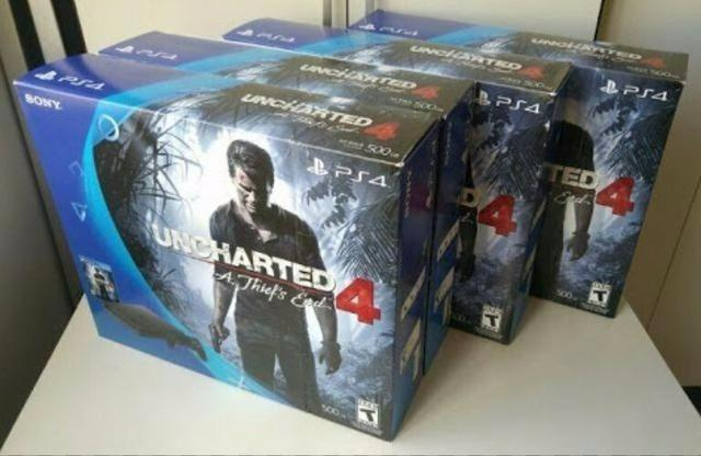 Playstation 4 Ps4 500GB Novo + 1 Controle + Jogos