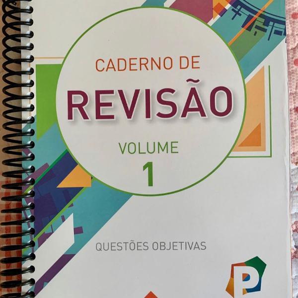caderno de revisão volume 1 questões objetivas poliedro
