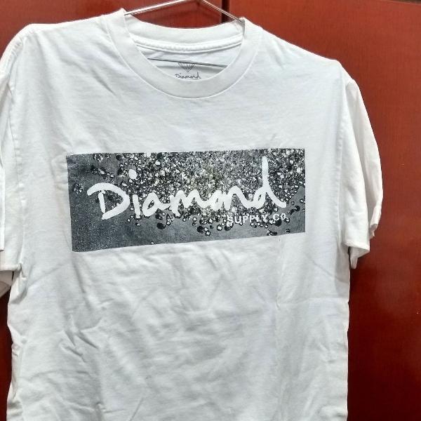 camiseta branca manga curta malha tamanho m