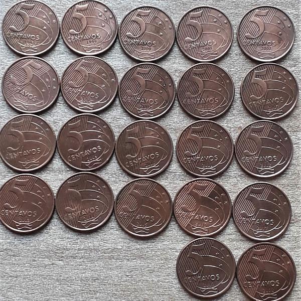 coleção completa 0,05 centavos 2° família real