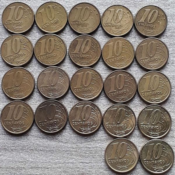 coleção completa 0,10 centavos 2° família do real